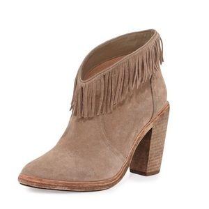 Joie Loren Fringe ankle booties